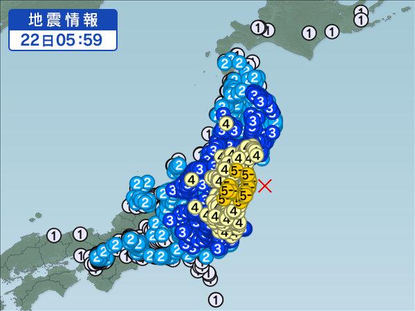 22日地震