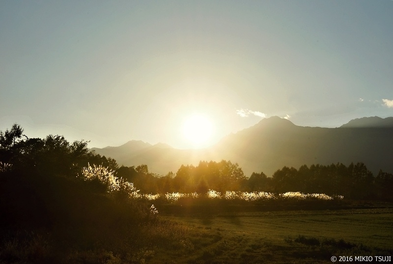 絶景探しの旅-0028 夕日に輝く(八ケ岳)