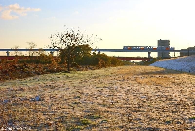 絶景探しの旅 - 0051 11月の雪の名残り (多摩川/ 東京都 日野市)