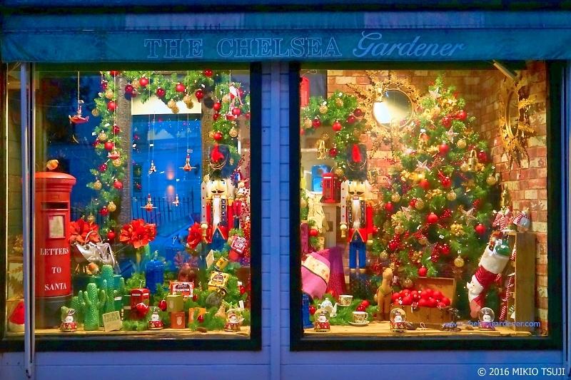 絶景探しの旅 - 0076 ロンドンのクリスマス飾り 「ザ・チェルシー・ガーデナー」 (ケンジントン・アンド・チェルシー王立区)