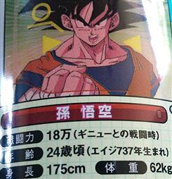 【ドラゴンボール】孫悟空の身長「175cm 体重62kg」←時代を感じるよな