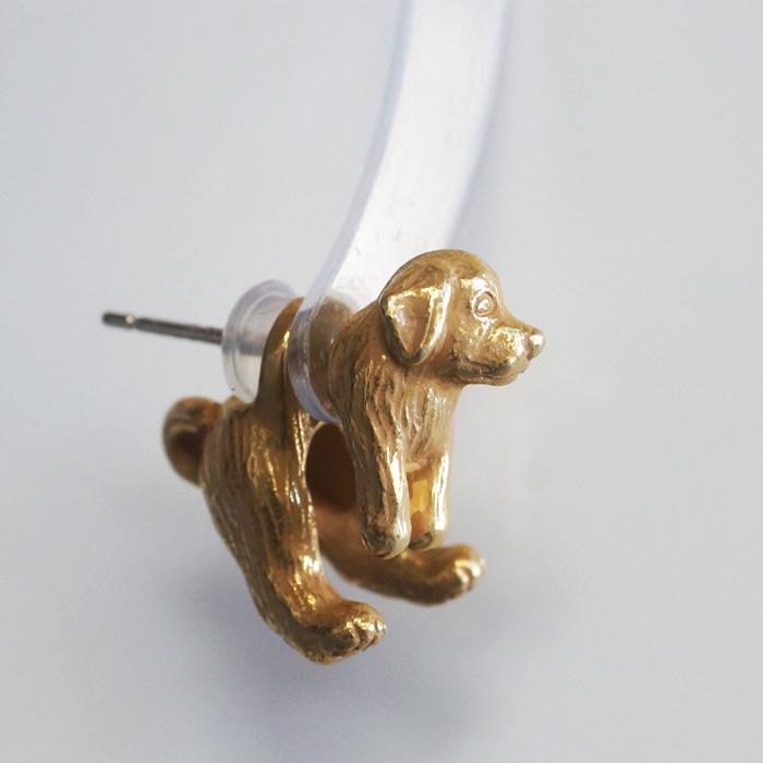 アンティークゴールド犬