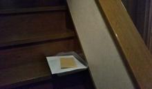 キャンドゥ トレーを階段に1