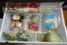 無印良品メイクボックスと100均イノマタ化学野菜ストッカーで野菜室収納