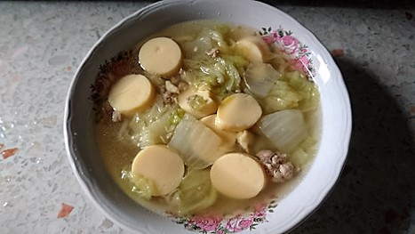 Cabbage+Tofu+Pork soup