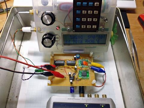MAX291_OSC実験の様子