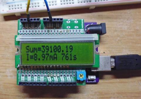 積算電流計の実験