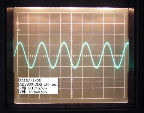 5MHz正弦波LPFout