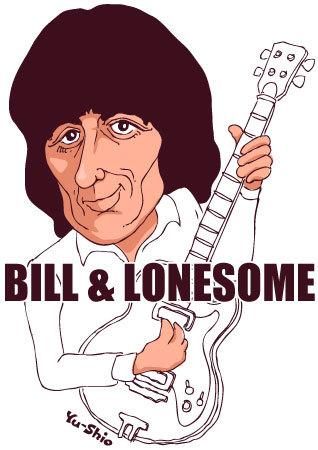 Bill Wyman Rolling Stones caricature