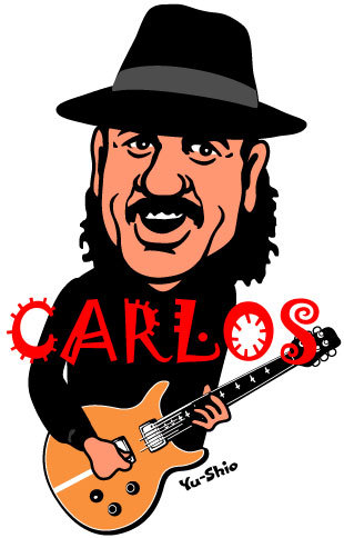 Carlos Santana caricature