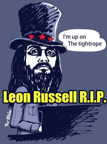 Leon Russell caricature
