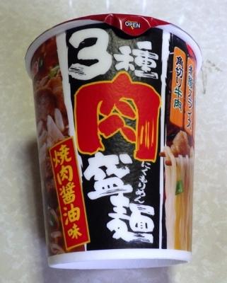6/6発売 明星 3種肉盛麺 焼肉醤油味