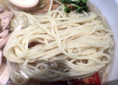 えびす丸 冷やし塩ラーメン(麺のアップ)