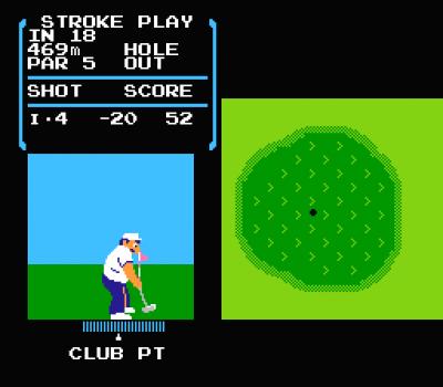 ゴルフ(ファミコン) ハイスコア -20