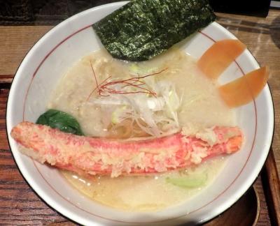 麺と心 7 蟹白湯ラー麺 ~自家製太ちぢれ麺~