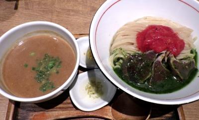 麺と心 7 濃厚鰹白湯つけ麺 IMPACT. ~ジェノベーゼ仕立て~