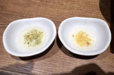 麺と心 7 濃厚鰹白湯つけ麺 IMPACT. ~ジェノベーゼ仕立て~(香味油)
