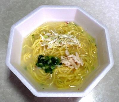 6/27発売 ラ王Selection 炊き出し鶏とろ白湯(できあがり)