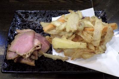 綿麺 フライデーナイト Part108 (16/4/22) かきあげそば(かきあげとレアチャーシュー)