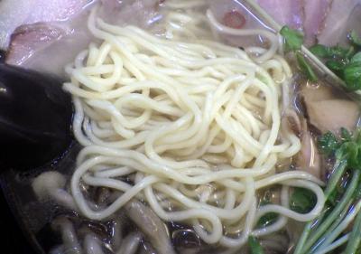 綿麺 フライデーナイト Part120 (16/11/25) 黄金煮干しと自家製ベーコンの塩ラーメン(麺のアップ)