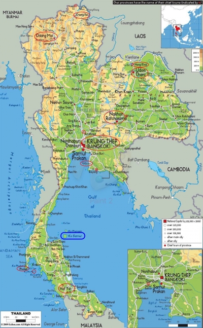 Thailand-map where I went