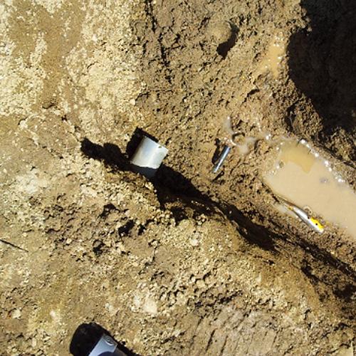 散水栓を立水栓に、そして元あった散水栓は移動し設置⑥