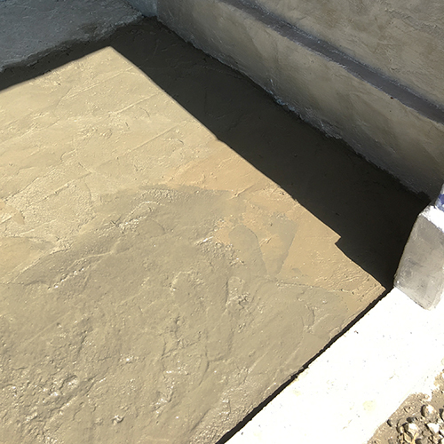 一人で作るブロック小屋⑪ ~コンクリート床を作る~④