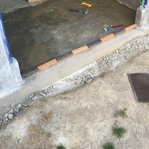 一人で作るブロック小屋⑪ ~コンクリート床を作る~⑧