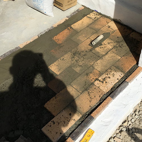 一人で作るブロック小屋⑪ ~コンクリート床を作る~⑪