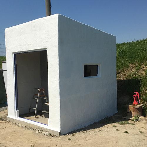 一人で作るブロック小屋⑫ ~換気口の取り付け~①