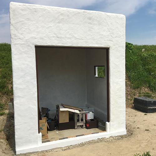一人で作るブロック小屋⑫ ~換気口の取り付け~⑥