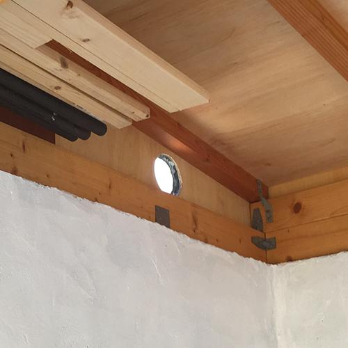一人で作るブロック小屋⑫ ~換気口の取り付け~⑦