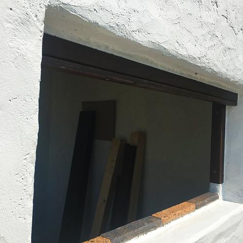 一人で作るブロック小屋⑬ ~蝶番・ノミ作業~⑬