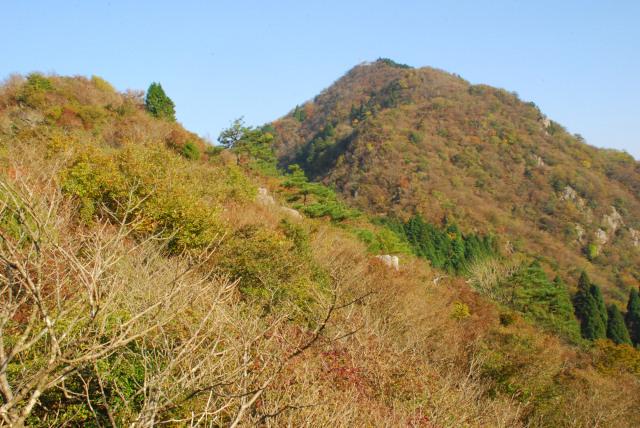 三岳登山道_西ヶ嶽から御嶽の眺め