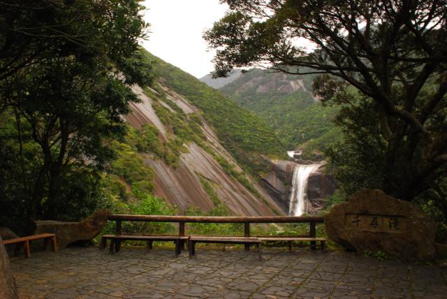 千尋滝の展望台からの眺め
