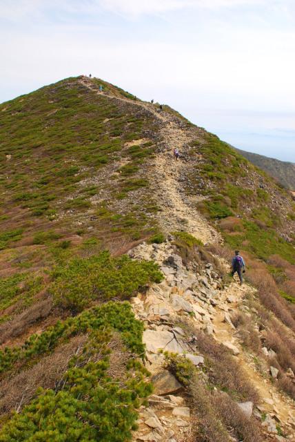 朝日岳から三本槍へ_気持ちのいい稜線歩き
