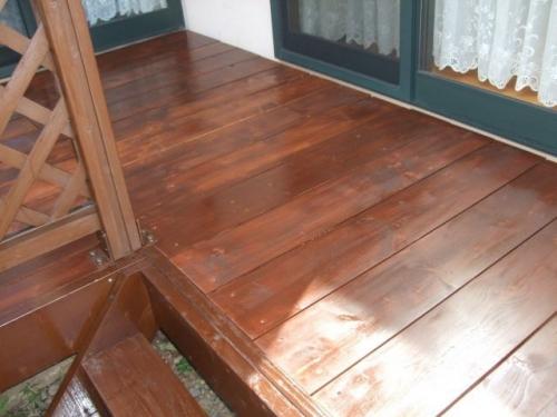 ウッドデッキ 床板交換