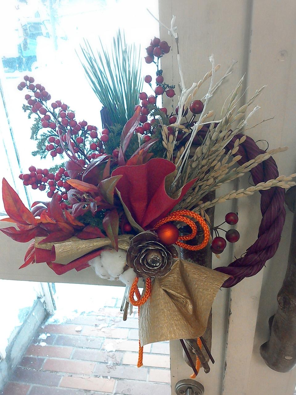 花屋さんのお正月飾り しめ縄