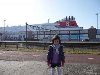 Stena Lineと記念写真