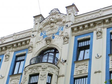 リガ ユーゲントシュティール建築群3