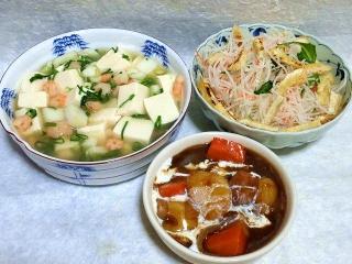 160422_3892豆腐の海鮮あんかけ・大根のシャキシャキサラダ・ビーフシチューVGA