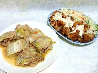 160506_3916白菜ミルフィーユ生クリーム&チーズ風味・鶏の照り焼きタルタルソースがけVGA