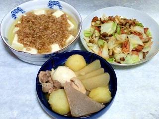 160830_4155挽肉のあんかけ豆腐・野菜炒め・おでん風煮物VGA