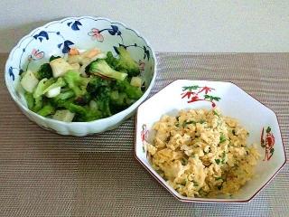 160916_4179ブロッコリーと海鮮のあんかけ炒め・炒り卵VGA