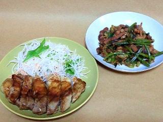161021_4262 ポークステーキ・豚肉とニンニクの芽のオイスターソース炒めVGA