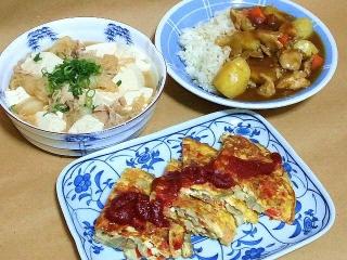 161108_4291 肉豆腐・チキンカレーライス・野菜入りスパニッシュ風オムレツVGA