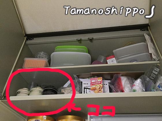 地震減災対策(台所の棚の整理)