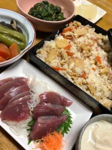 母の日の夕ご飯