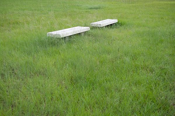 河川敷のベンチ