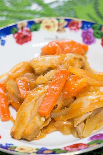 ジャガイモのケチャップ炒め